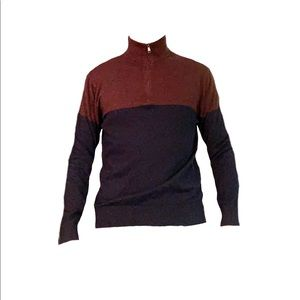 Banana Republic Luxe Sweater Maroon Red / Blue